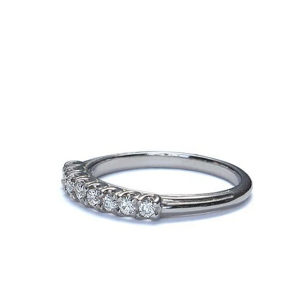 Replica 1930s diamond wedding band. #L1264 PLAT - Leigh Jay & Co.