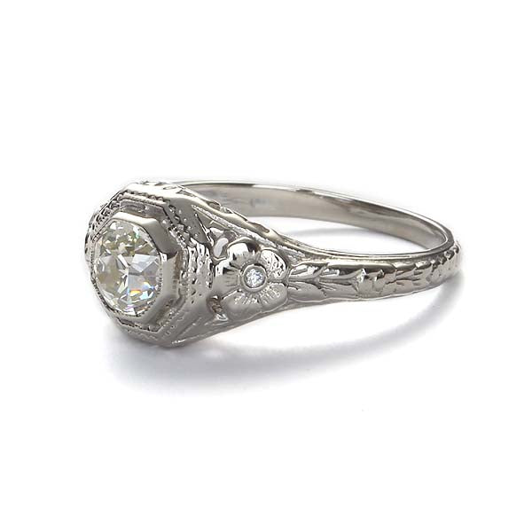 Replica art deco engagement ring #L1265 - Leigh Jay & Co.