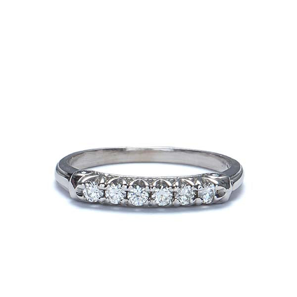 14k Diamond Wedding Band  #L1276S 14K-1 - Leigh Jay & Co.