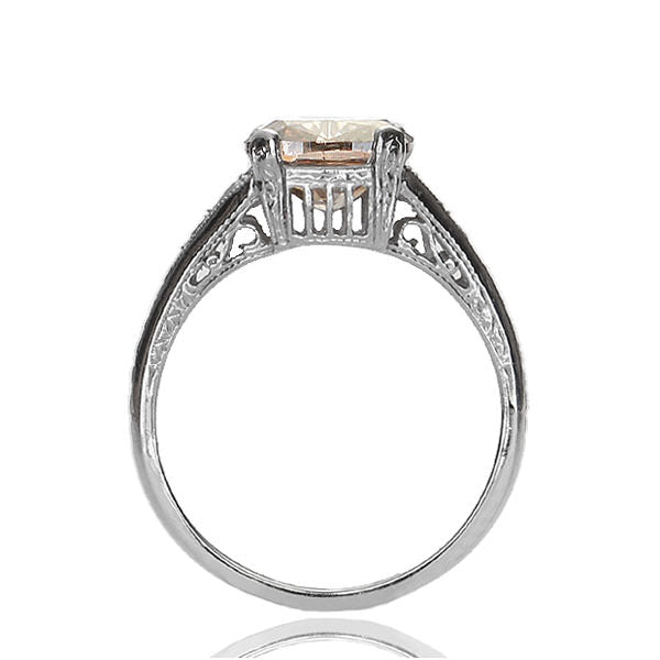 Replica art deco engagement ring #L1278 - Leigh Jay & Co.