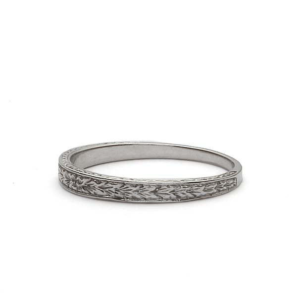 14k Wedding Band #L1284W14-1 - Leigh Jay & Co.
