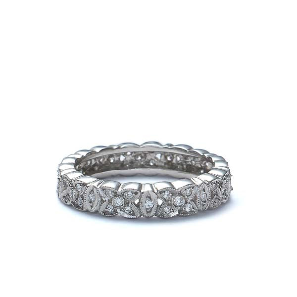14k Diamond Eternity Band #L1287 14K - Leigh Jay & Co.