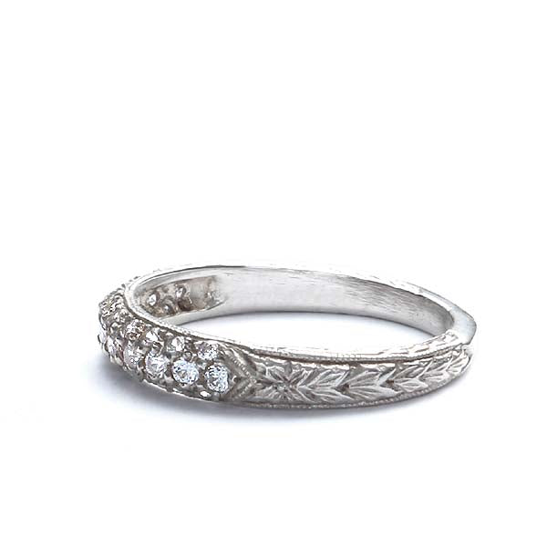 14k Diamond Wedding Band #L1304 14K - Leigh Jay & Co.