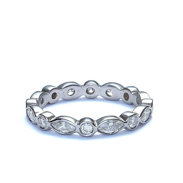 Replica Art Deco Diamond Eternity band #L1311W14 - Leigh Jay & Co.