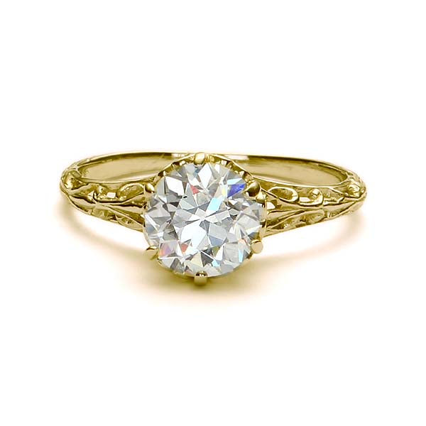 Replica Edwardian engagement ring #L1320 - Leigh Jay & Co.