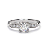 Replica art deco engagement ring #L1326 - Leigh Jay & Co.