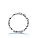 14k Diamond Eternity Wedding Band #L1335 14K-2 - Leigh Jay & Co.