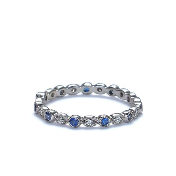 Platinum Diamond Eternity Wedding Band  #L1335S PLAT - Leigh Jay & Co.