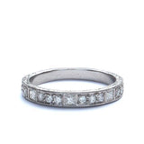 18k Diamond Replica Art Deco Wedding Band #L1502DY18 - Leigh Jay & Co.