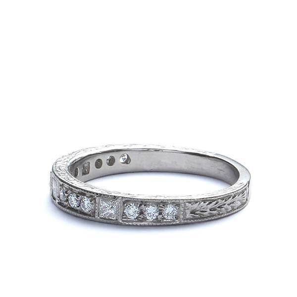 Platinum Diamond Wedding Band #L1502D PLAT - Leigh Jay & Co.
