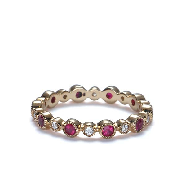 Ruby and Diamond Eternity wedding band #L16873-R-14