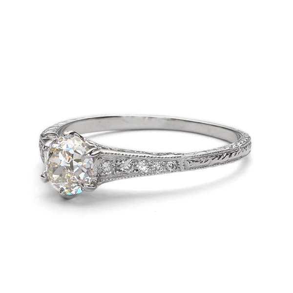 Replica Edwardian engagement ring #L1910 - Leigh Jay & Co.