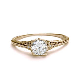 Replica art deco engagement ring #L1946 - Leigh Jay & Co.