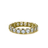 18k Diamond Wedding Band #L2299Y18 - Leigh Jay & Co.