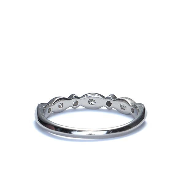 Round and Marquise Diamond Band #L2413WBR18 - Leigh Jay & Co.