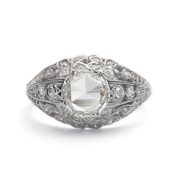 Replica art deco domed engagement ring #L2427 - Leigh Jay & Co.