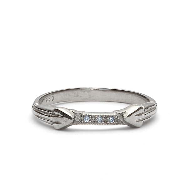Platinum Diamond Wedding Band #L2454NDPT-1 - Leigh Jay & Co.
