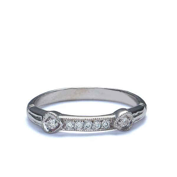 14k Diamond Wedding Band #L2454WBW14-1 - Leigh Jay & Co.