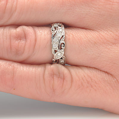 14k Diamond Eternity Band #L2519WB 14K - Leigh Jay & Co.