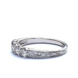 14k Diamond Wedding Band #L2575WB 14K - Leigh Jay & Co.