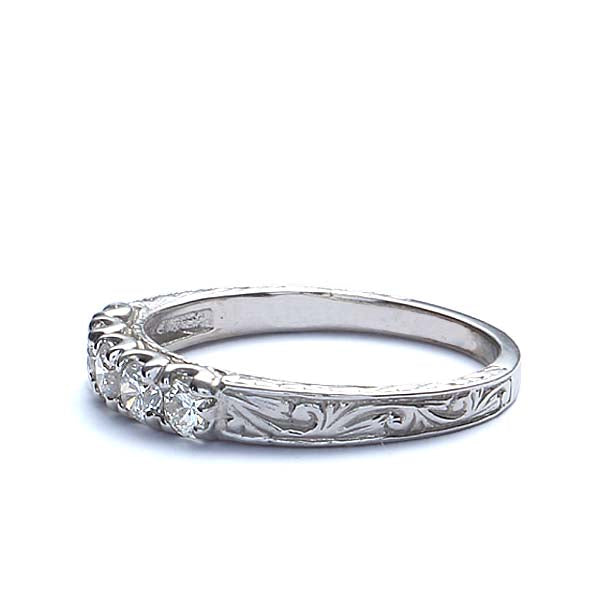 14k Diamond Wedding Band #L2575WB 14K-1 - Leigh Jay & Co.