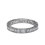 Platinum Diamond Eternity Band #L2590HE PLAT - Leigh Jay & Co.