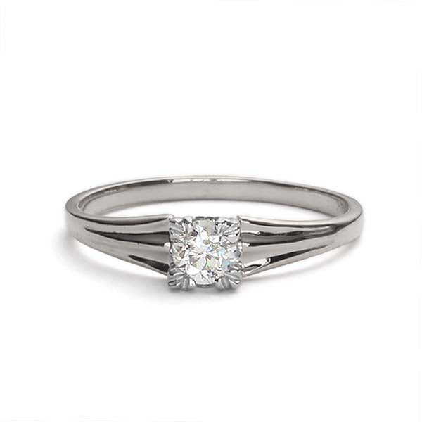 Replica art deco engagement ring #L2605 - Leigh Jay & Co.