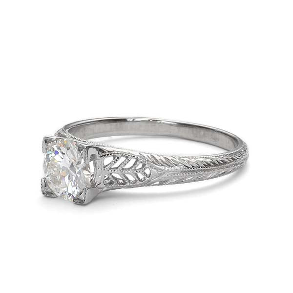 Replica art deco engagement ring #L2608 - Leigh Jay & Co.