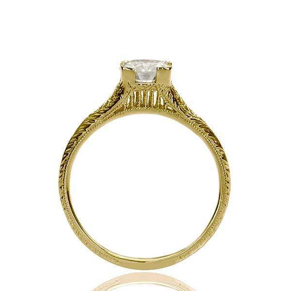 Replica art deco engagement ring #L2693 - Leigh Jay & Co.