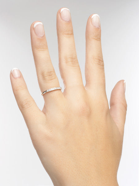 14k Diamond Wedding Band #L2609 14K - Leigh Jay & Co.