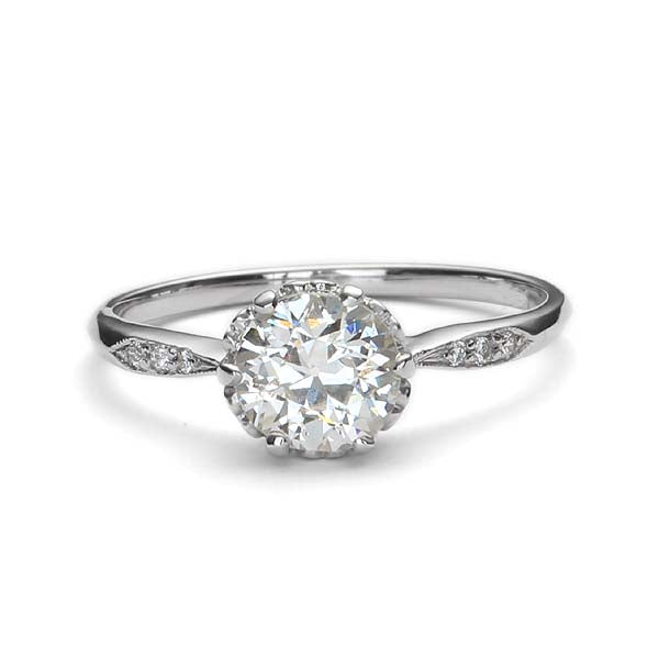 Replica Edwardian engagement ring #L2636 - Leigh Jay & Co.