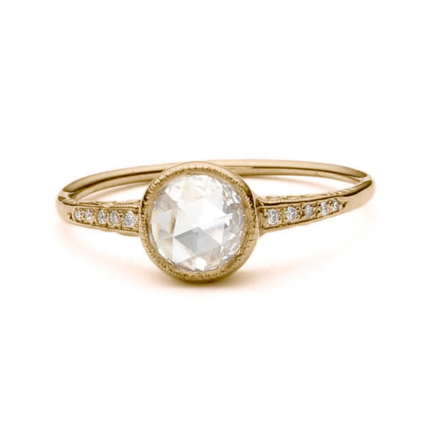 Replica Edwardian engagement ring #L2651WD - Leigh Jay & Co.