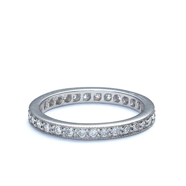 PlatInum Diamond Eternity Band #L2658WB PT - Leigh Jay & Co.