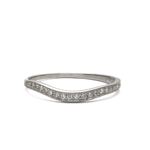 14k Diamond Wedding Band #L2662WBS 14K-1 - Leigh Jay & Co.