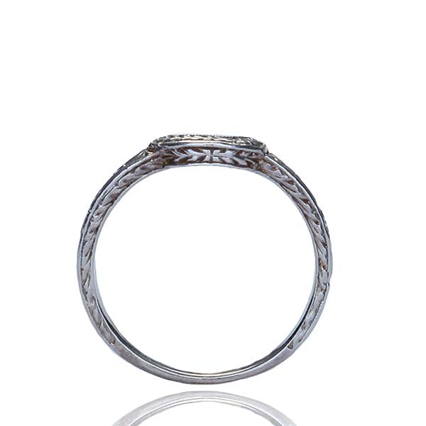 Platinum Wedding Band #L2666DND Y14 - Leigh Jay & Co.
