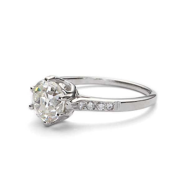 Replica Edwardian engagement ring #L2670 - Leigh Jay & Co.