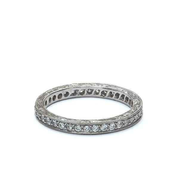 14k Diamond Wedding Band #L2675WB 14K - Leigh Jay & Co.