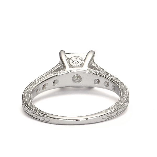 Replica art deco engagement ring #L3042 - Leigh Jay & Co.