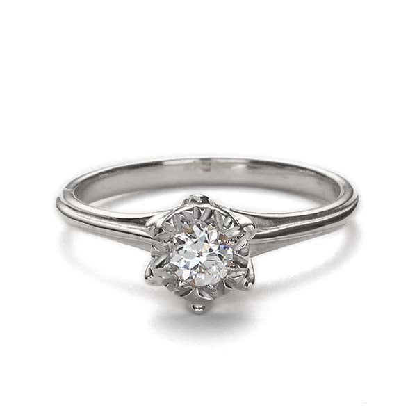 Replica Edwardian engagement ring #L3043 - Leigh Jay & Co.