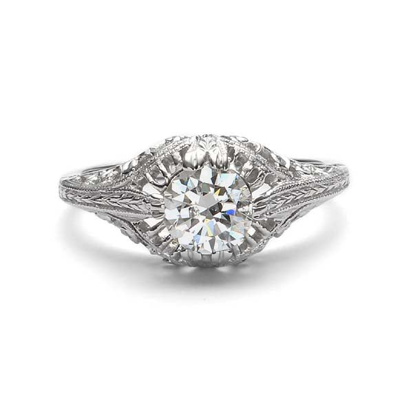 Replica art deco engagement ring #L3044 - Leigh Jay & Co.
