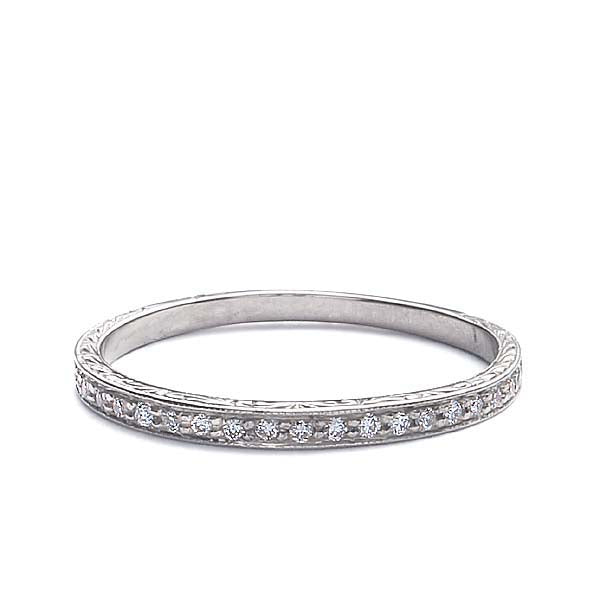 18k Diamond Wedding Band #L3091T 18K - Leigh Jay & Co.