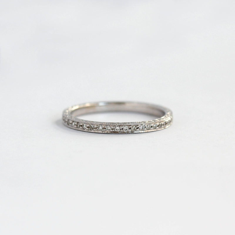 Slender Replica Art Deco Diamond Eternity band #L3092WB PLAT - Leigh Jay & Co.