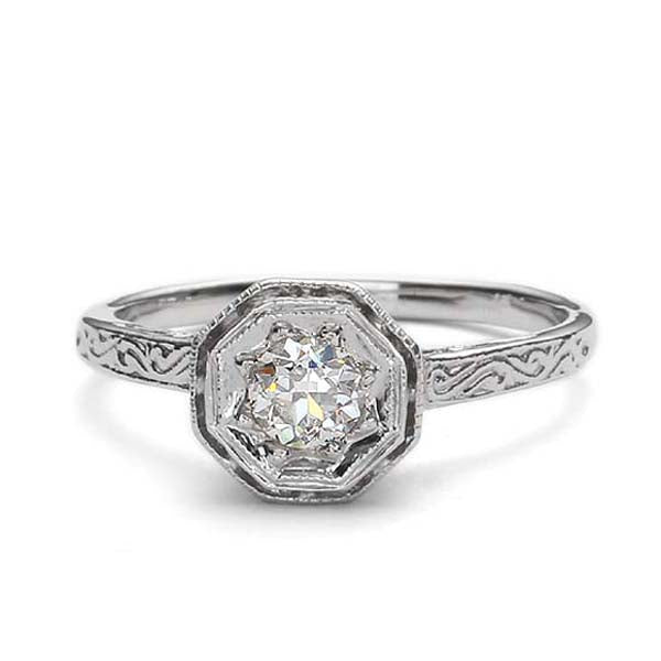 Replica Edwardian engagement ring #L3102 - Leigh Jay & Co.
