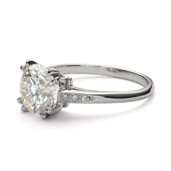 Replica 1930s engagement ring #L3104 - Leigh Jay & Co.