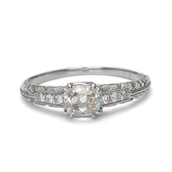Replica Art Deco engagement ring #L3107 - Leigh Jay & Co.