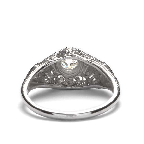 Replica art deco domed engagement ring #L3111 - Leigh Jay & Co.