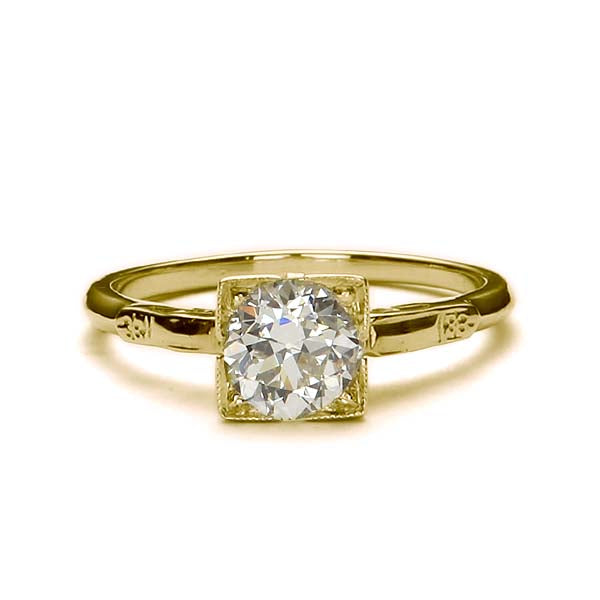 Replica art deco engagement ring #L3117 - Leigh Jay & Co.