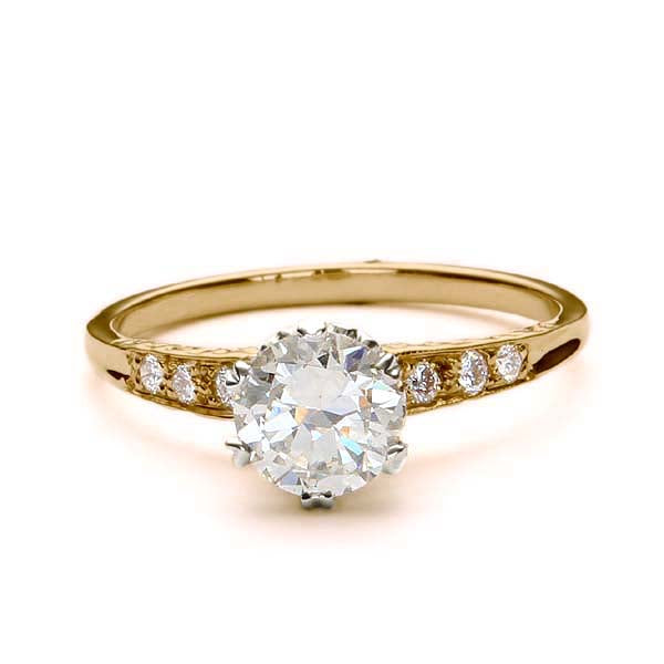 Enchanting  Replica Edwardian Engagement ring #L31302T - Leigh Jay & Co.