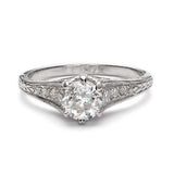 Graceful Replica Edwardian Engagement #L3131 - Leigh Jay & Co.
