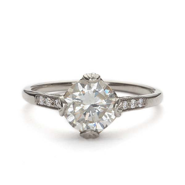Replica Edwardian engagement ring #L3144 - Leigh Jay & Co.